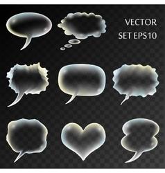 transparent comics set vector image