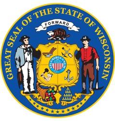 Wisconsin seal vector image vector image