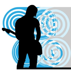 Singer playing guitar vector image