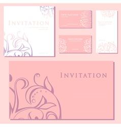 decorative invitation vector image
