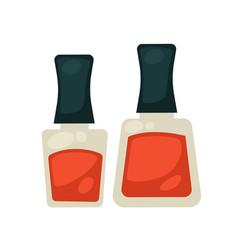 Flasks with nail polish vector