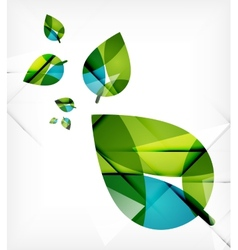 Green leaves spring nature design concept vector