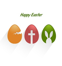 Easter decorative eggs vector