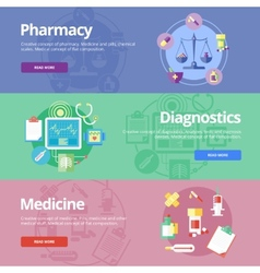 Set of flat design concepts for pharmacy vector