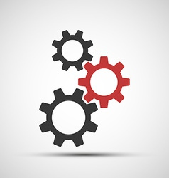 Icons of mechanical gears vector