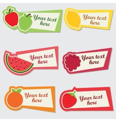 Fruit sticker set vector