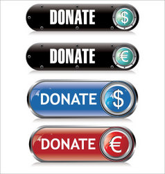 Donate support button vector