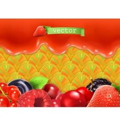 Sweet berry background vector
