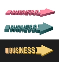 Arrows business vector