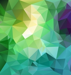 Fresh spring blue green polygon triangular vector