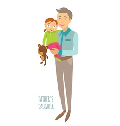 Fathers daughter vector image