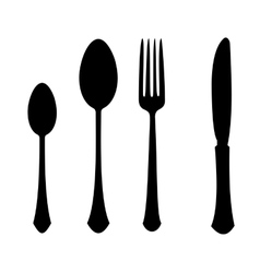 Fork spoon knife vector