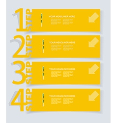 Abstract infographics Option Banners Set vector image vector image