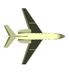 aircraft airplane plane icon isolated color air vector image vector image