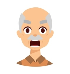 Angry grandpa vector