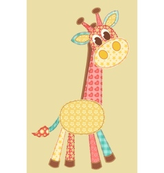 application giraffe vector image vector image