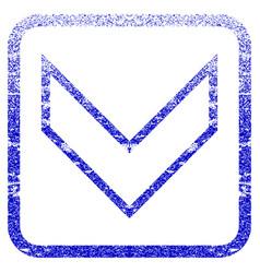 Arrowhead down framed textured icon vector