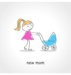 Baby srollers vector
