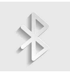 Bluetooth sign paper style icon vector