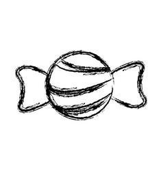 candy sweet delicious tasty icon sketch vector image vector image