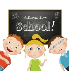 Composition with students on a school vector image