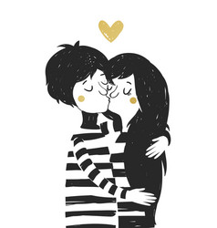 Couple in love vector