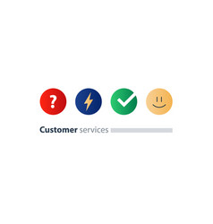 Customer services feedback survey quiz concept vector