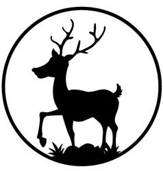 cute deer silhouette vector image