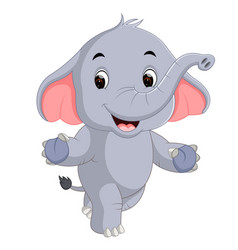 cute elephants cartoon vector image vector image