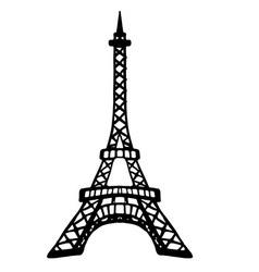 Eifel paris black white black-white print vector