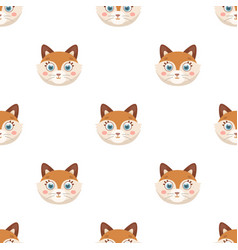 Fox muzzle icon in cartoon style isolated on white vector