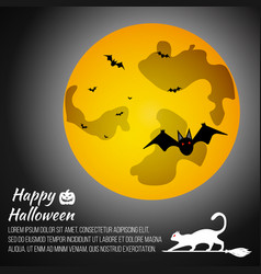 halloween moon on grey background vector image
