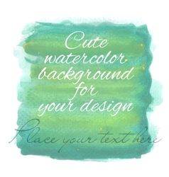 Handdrawn watercolor background with designed text vector image vector image