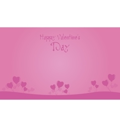 Happy Valentine Day with heart balloon backgrounds vector image vector image