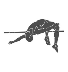 High jump athlete vector