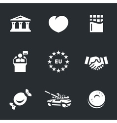 Icons set of ukraine vector