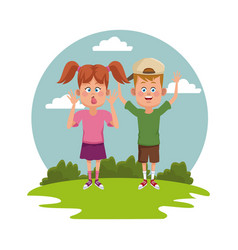 kids at park vector image vector image