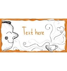 Morning coffee Cartoon doodle vector image