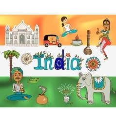 Republic india background vector image vector image
