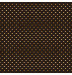Seamless orange polka dots on black background vector