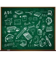 set of school doodle s vector image vector image