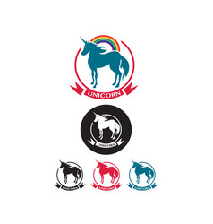 Set of unicorn icons vector
