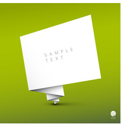 simple background with folded white paper vector image