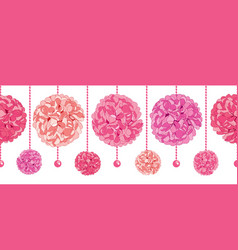 Srt of dangling pink birthday party paper vector
