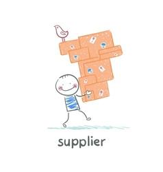 Supplier carries goods vector