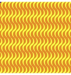 Wavy line yellow seamless pattern vector image