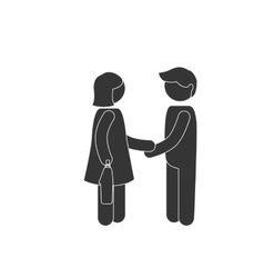 Man women handshake meeting icon business vector