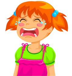 Crying girl vector