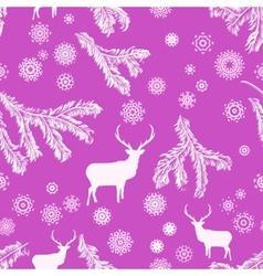 Vintage christmas deer pattern vector image