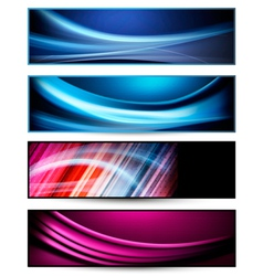 Set of colorful abstract business banners vector image